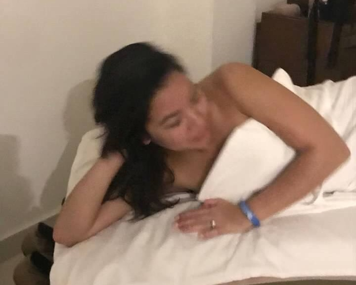 The best pic my mom took of me at the spa.