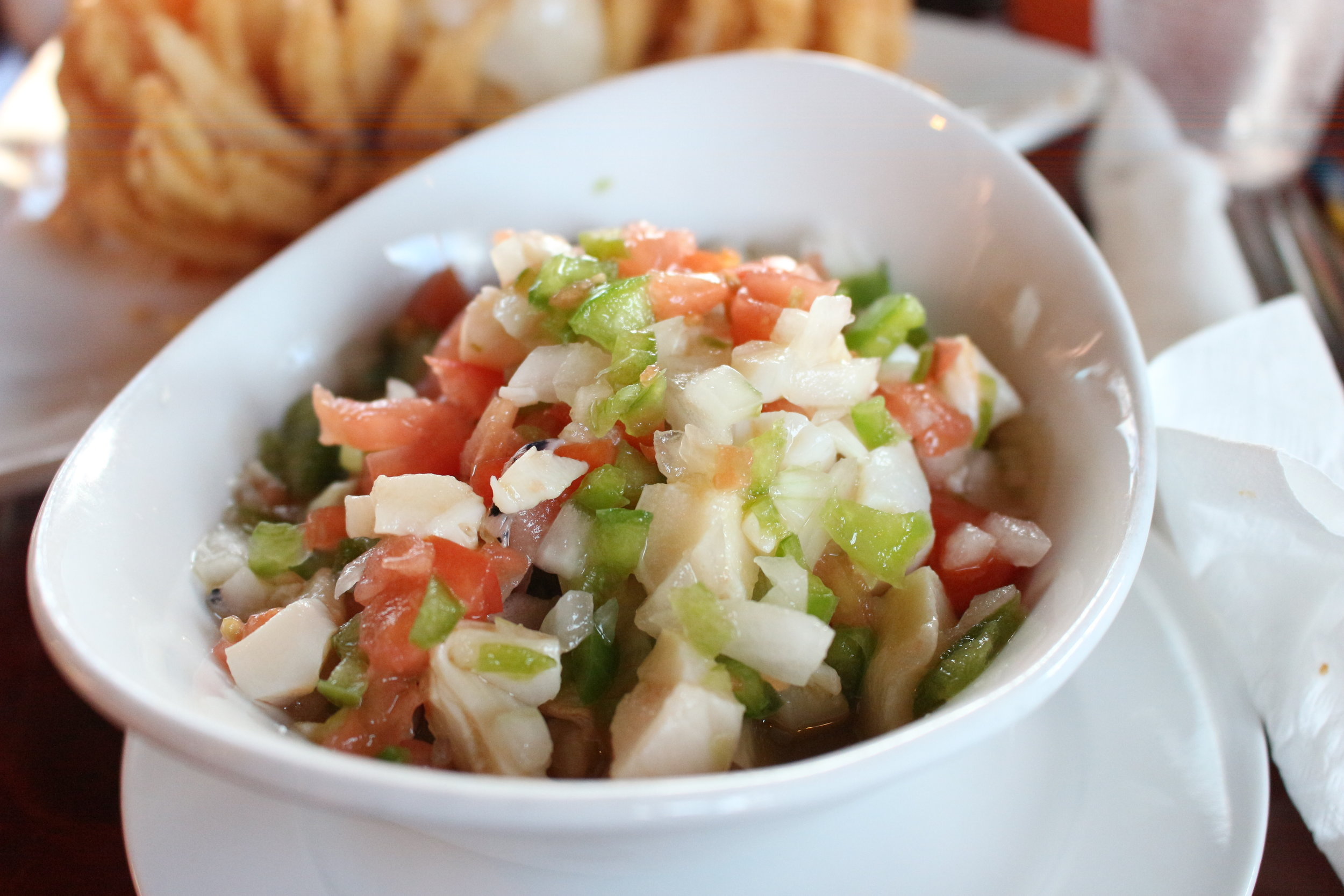 Conch salad. It's a lot like ceviche.