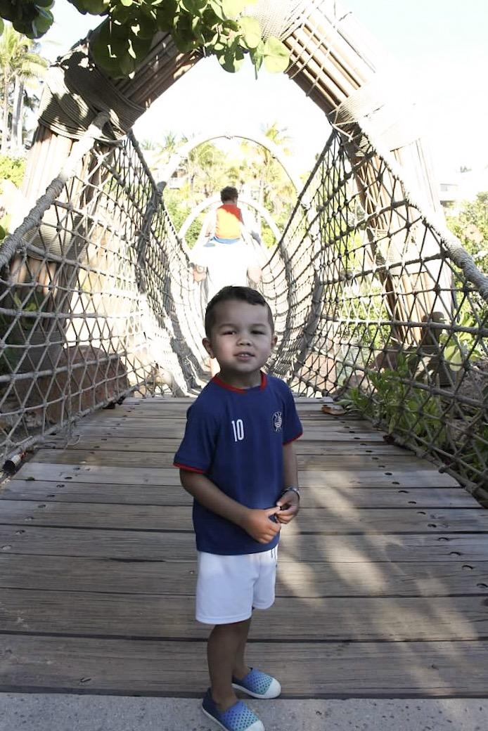 The gorgeous rope bridge.