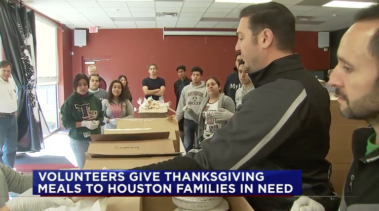 After Hurricane Harvey, Taher Inc. sent hundreds of meals to families in need.