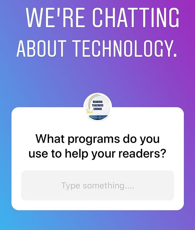🎙We're going to talk about software programs that help students practice literacy skills. 💻What programs do you use in your school and with your students? 🖥How do these programs help your readers?  #readingteacher #iteachreading #literacy #edtech #iteachtoo #teachersofinstagram #teachersofinsta #iteachk #iteachfirst #iteach2nd