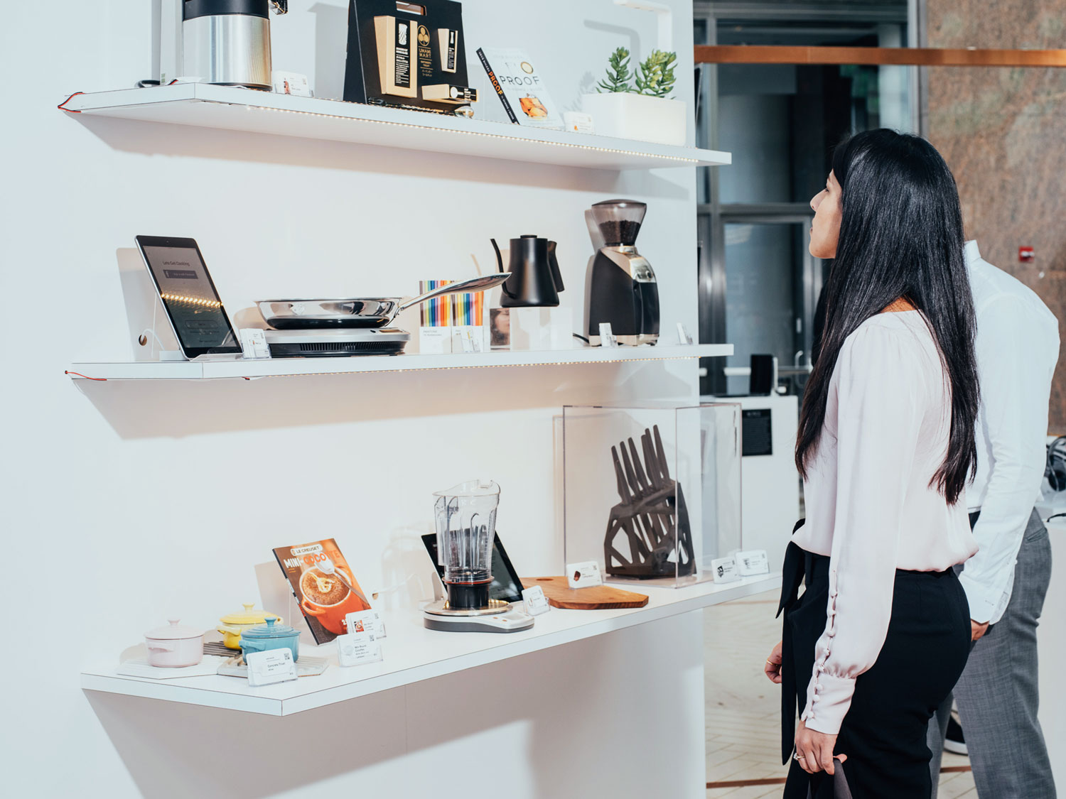 Lady browsing Wired Store's products