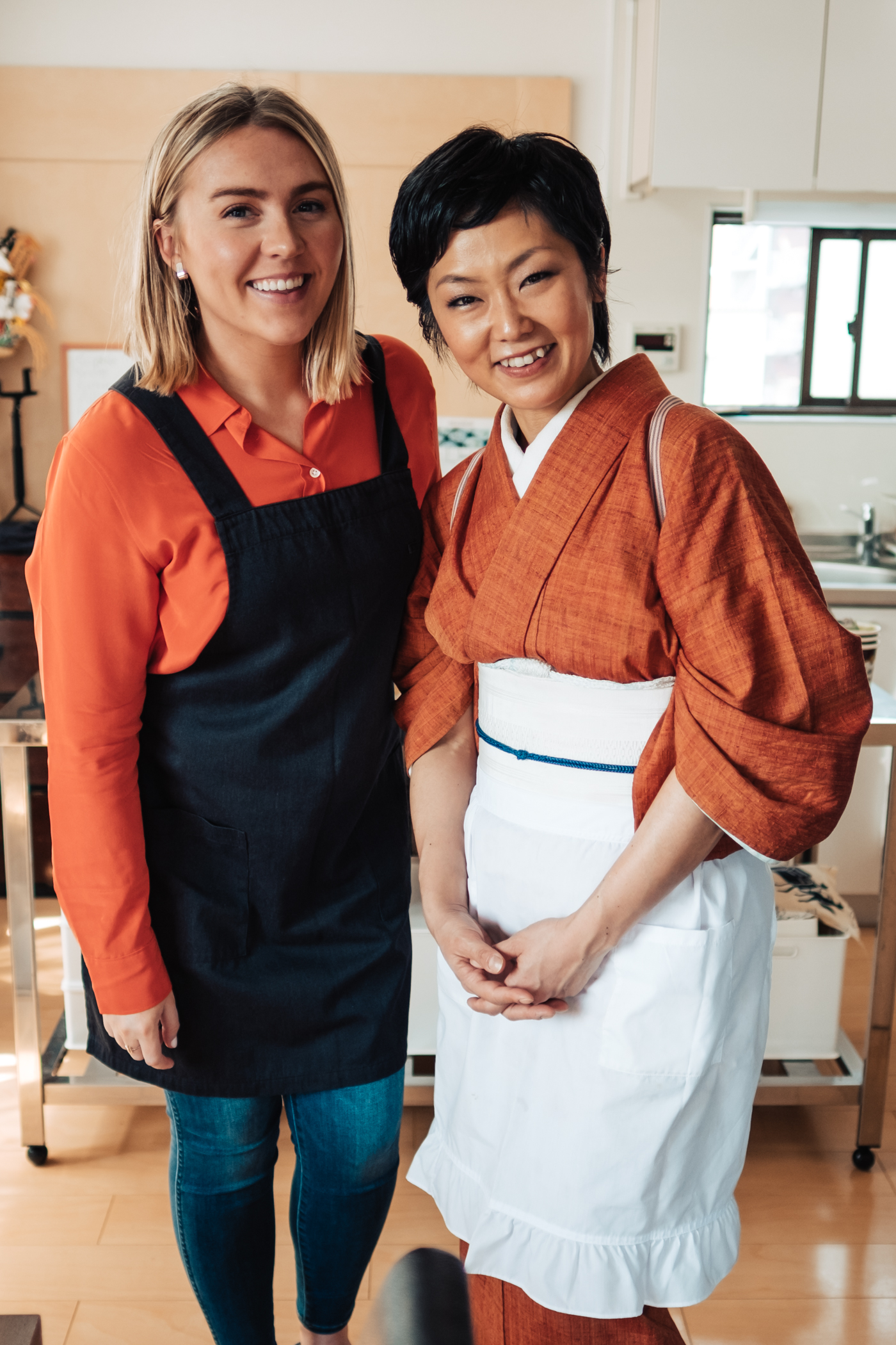 The owner and instructor at  Tokyo Kitchen , Yoshimi.