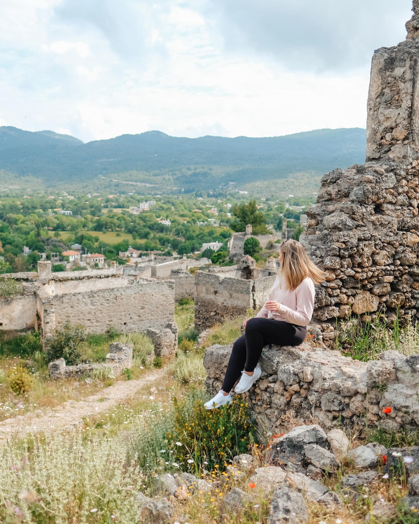 Exploring the ruins of Kayaköy