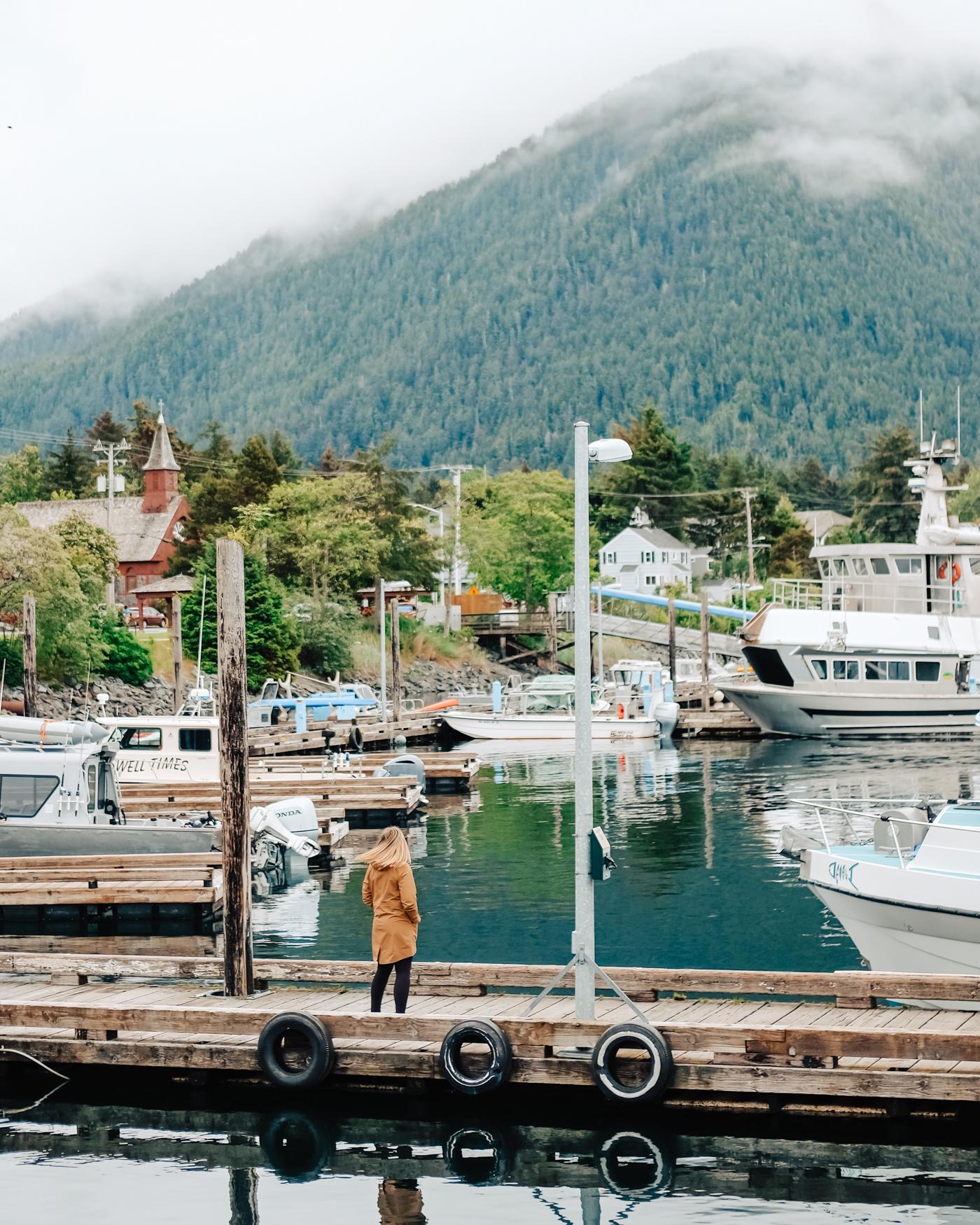 The harbor of Sitka, Alaska