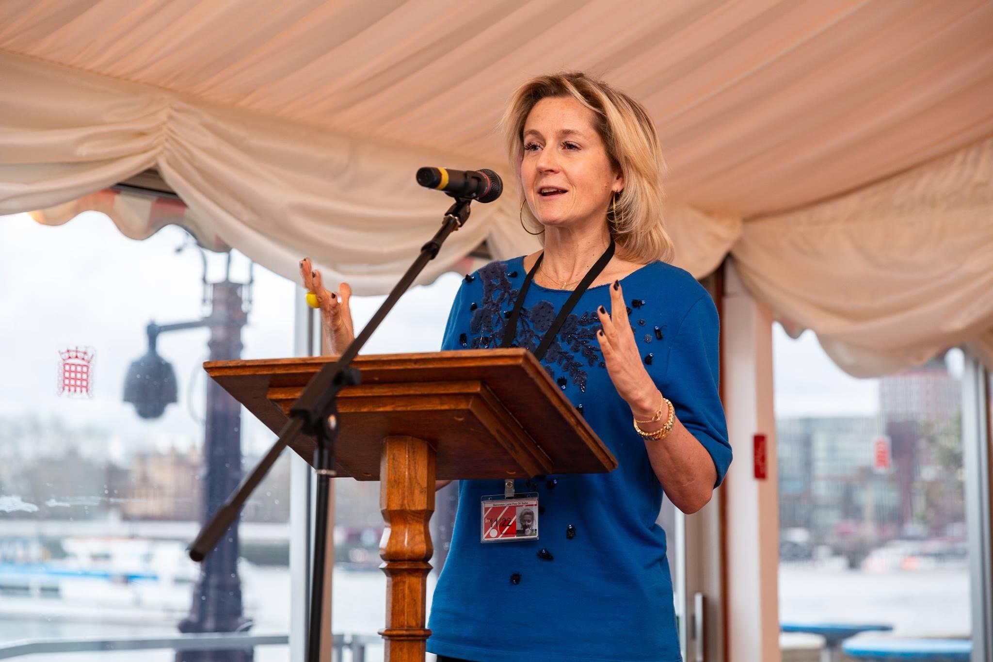 Martha Lane Fox speaking to the f:Entrepreneur top 100