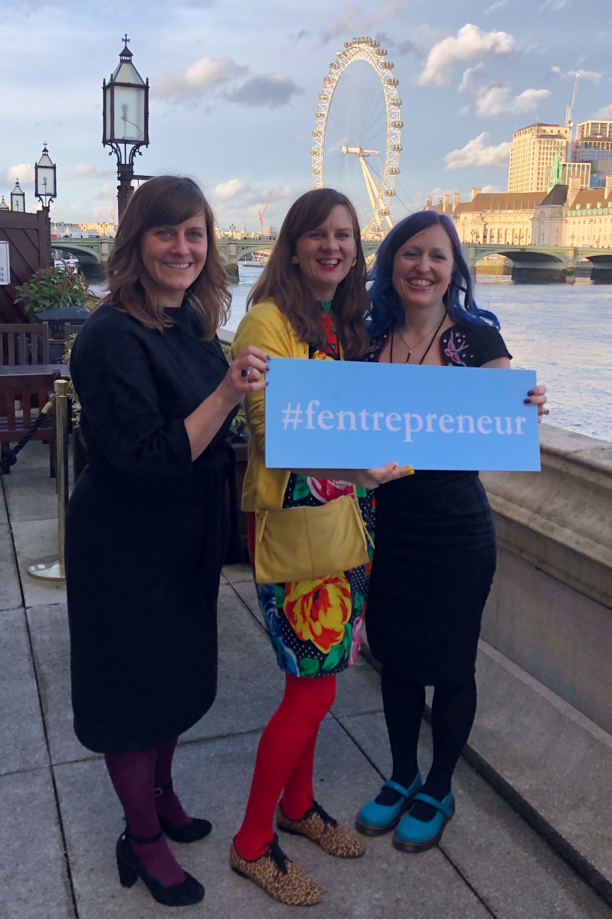 Jen Walker, Debbie Clarke and Hana Glover at The House Of Lords for f:Entrepreneur #ialso top 100