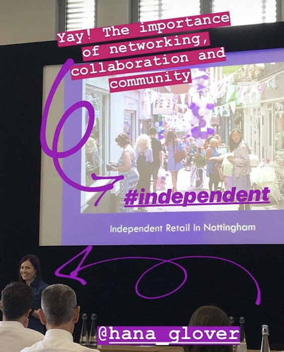 Me talking about indie retail in Nottingham