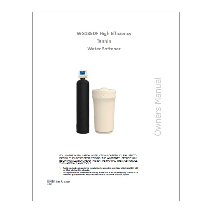 185 TAN Filter Manual