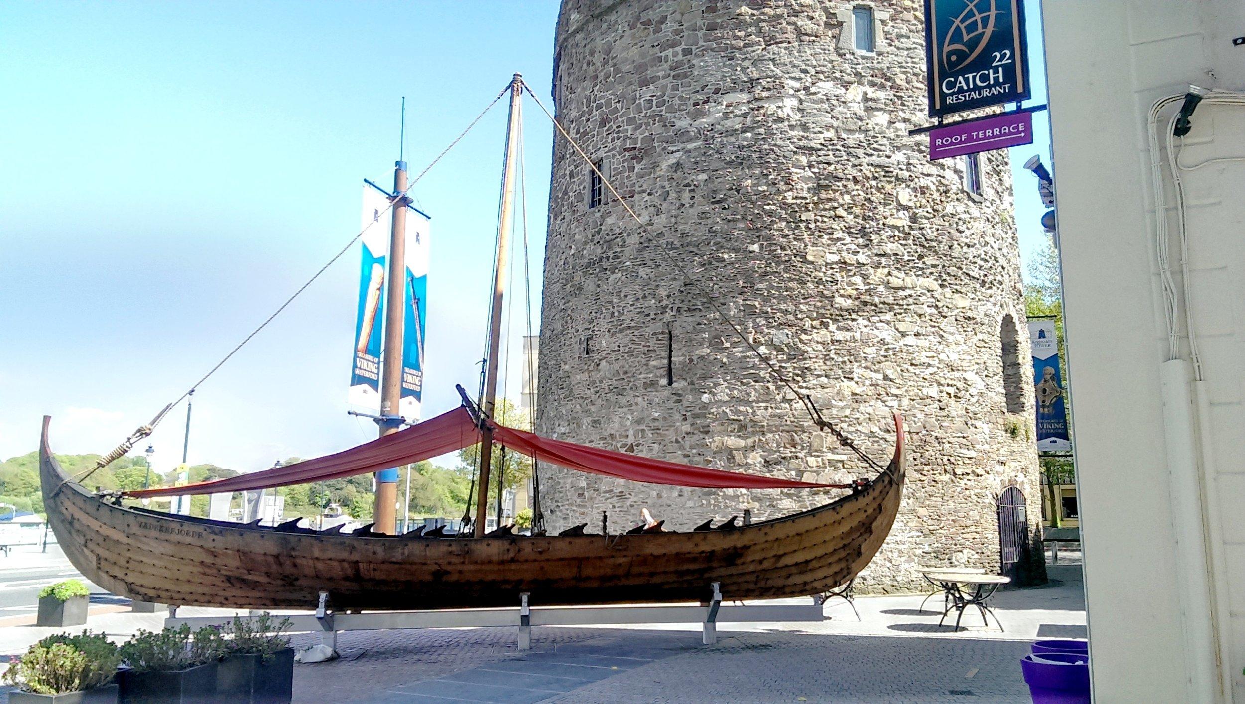 Viking longship, Waterford, Ireland.jpg
