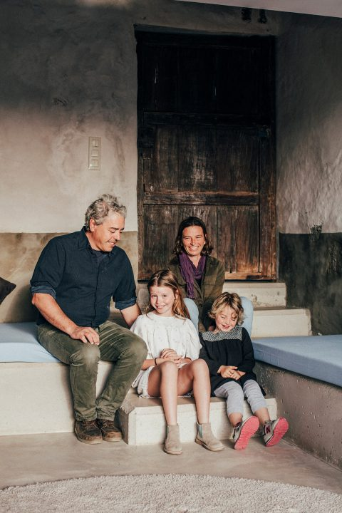 Mayca and Gonzalo with their children