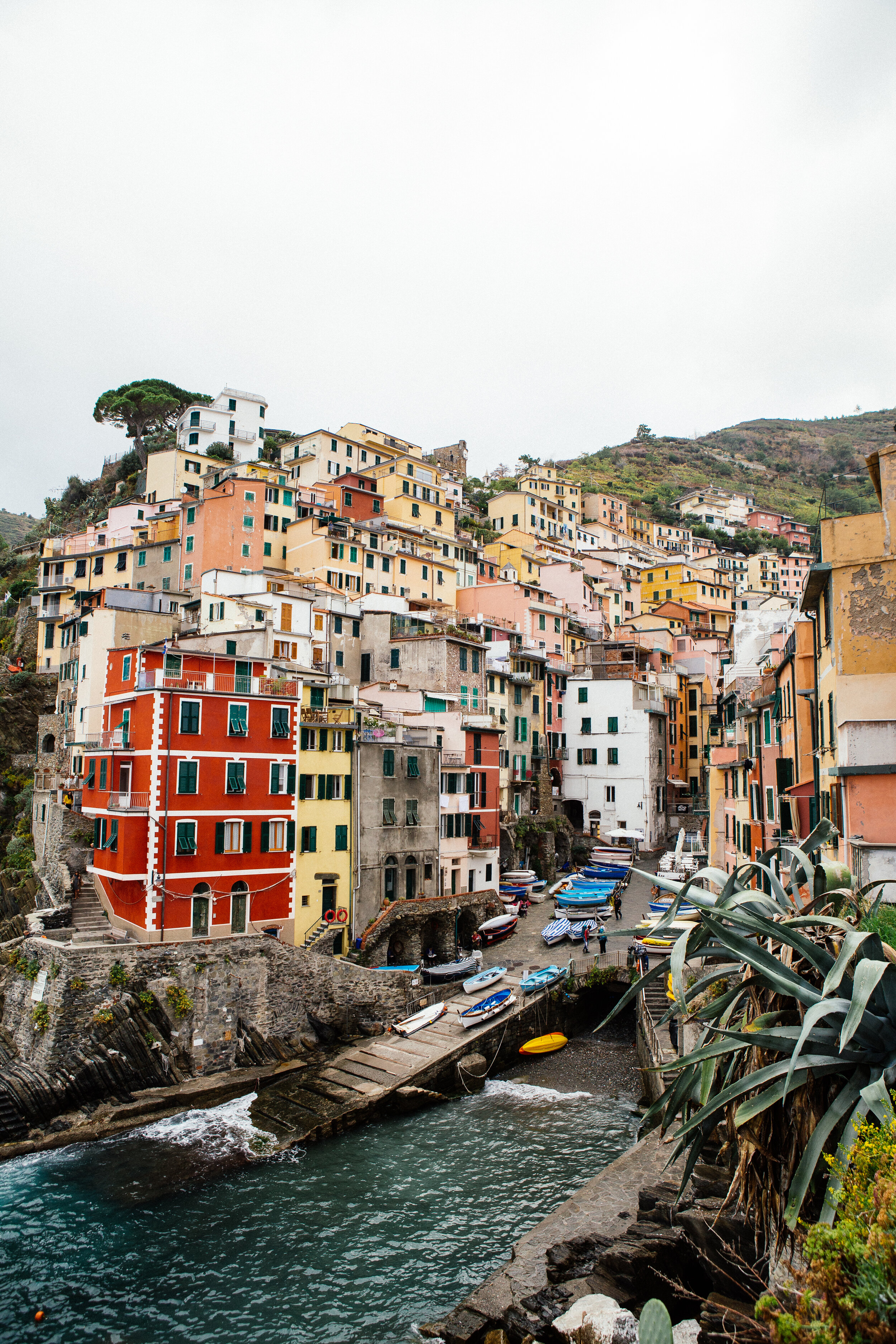 RIOMAGGIORE - Italy - It's the easternmost, the largest, and the prettiest village of the Cinque Terre — a UNESCO World Heritage. Everything is beautiful here, the sea, the streets… But it's better to explore this village early in the morning when it's calm and not crowded yet.