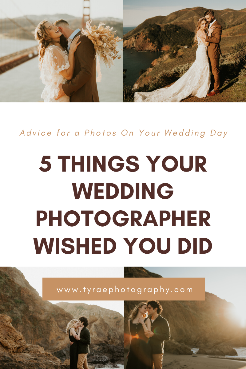Five Things A Wedding Photographer Wished You Knew.  Wedding Planning advice from a photographers perspective.