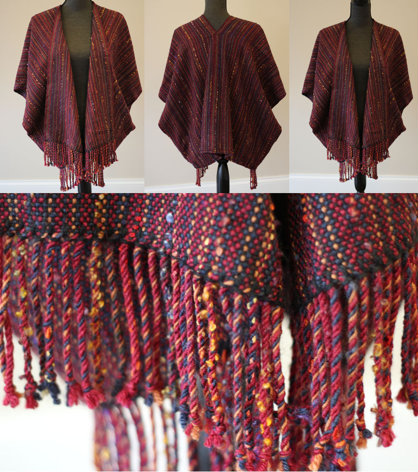 Ruby red poncho