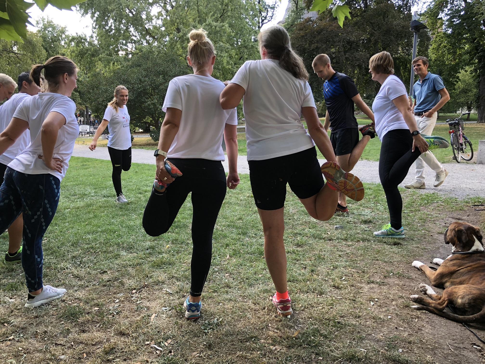 Looström-klassikern - Inför momentet löpning har vi löparskola i Humlegården.
