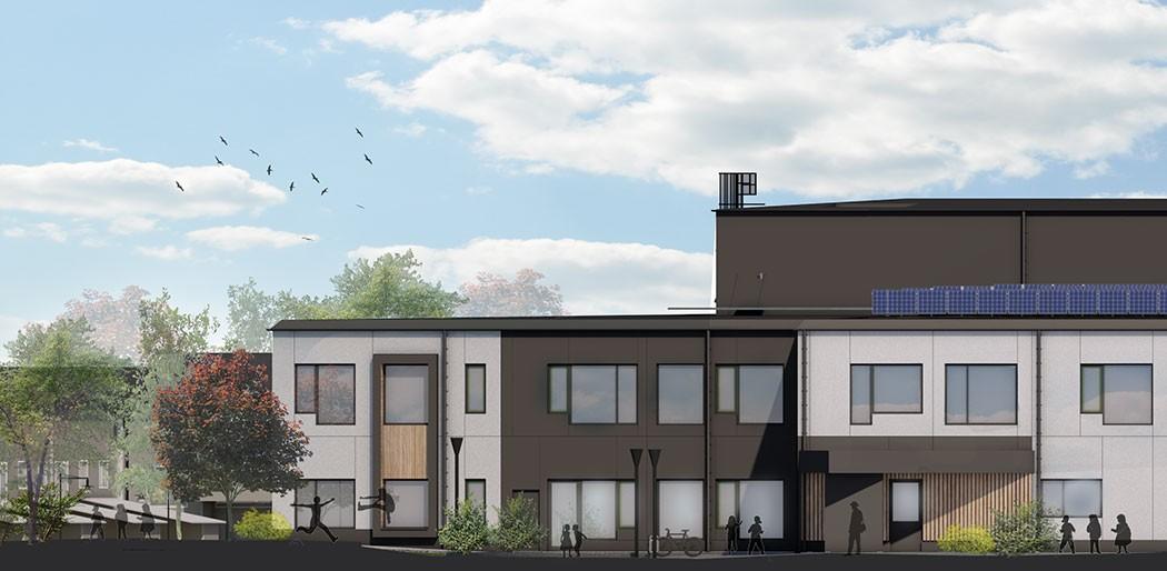 Sigfridsborgsskolan - Den nya Sigfridsborgsskolan är planerad att inrymma 700 elever fördelat på två våningar, där årskurserna är fyrparallelliga.