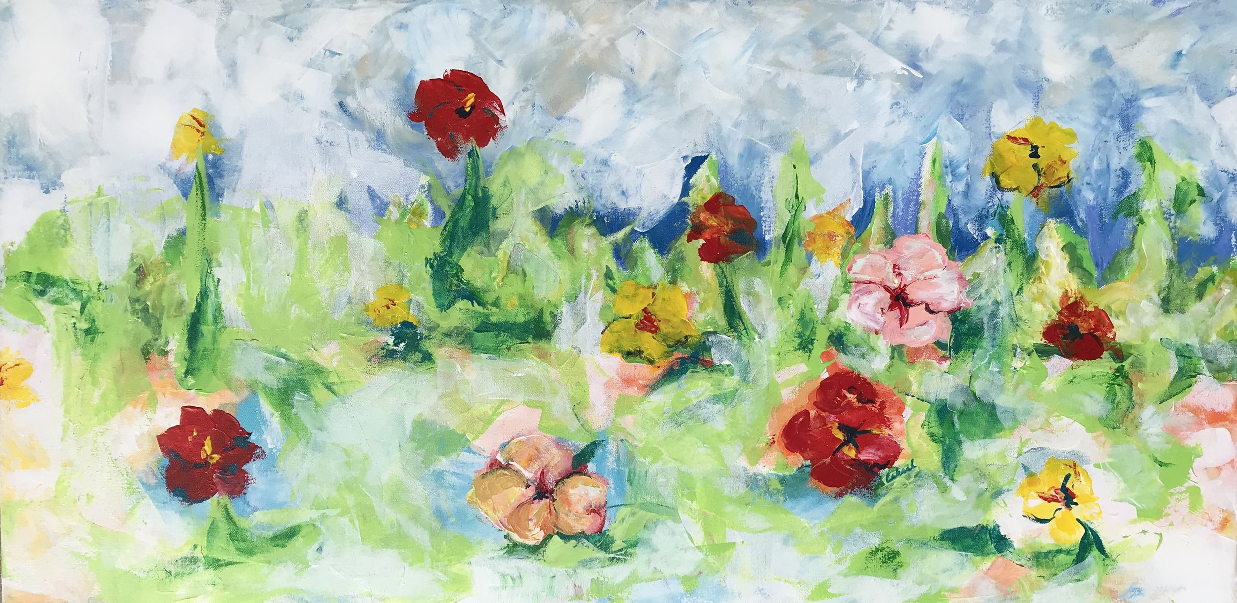 HIDDEN BLOOM 24X38(SOLD)
