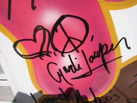 Cyndi Lauper  (Autograph Only)