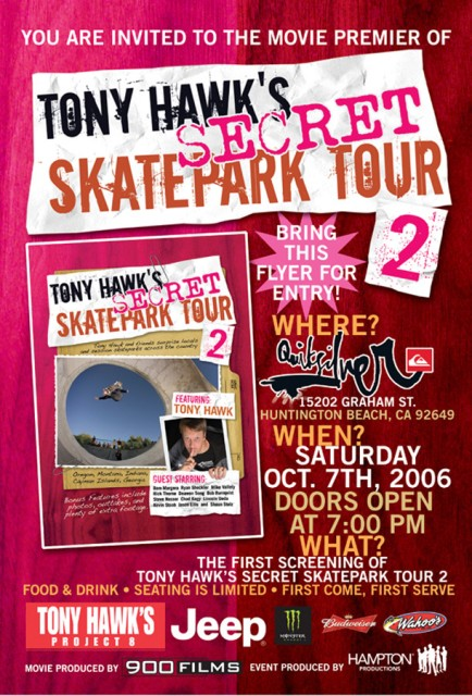 "Tony Hawk's ""Secret Skatepark Tour"""