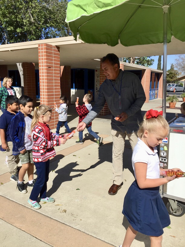 Principal of The Day with Jim Salzetti from at Benson Elementary School in Tustin  April 17 18