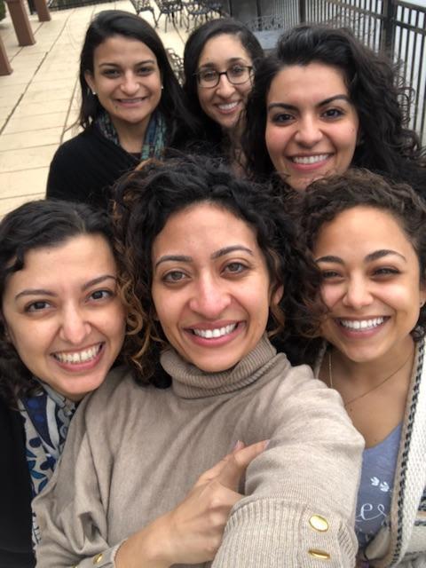 The 2019 Committee, around from top left: Sarah Iskander, Christina Azmy, Sandra Mathoslah-Sayegh, Helena Sakla, Monica Kalleeny, and Laura Michael