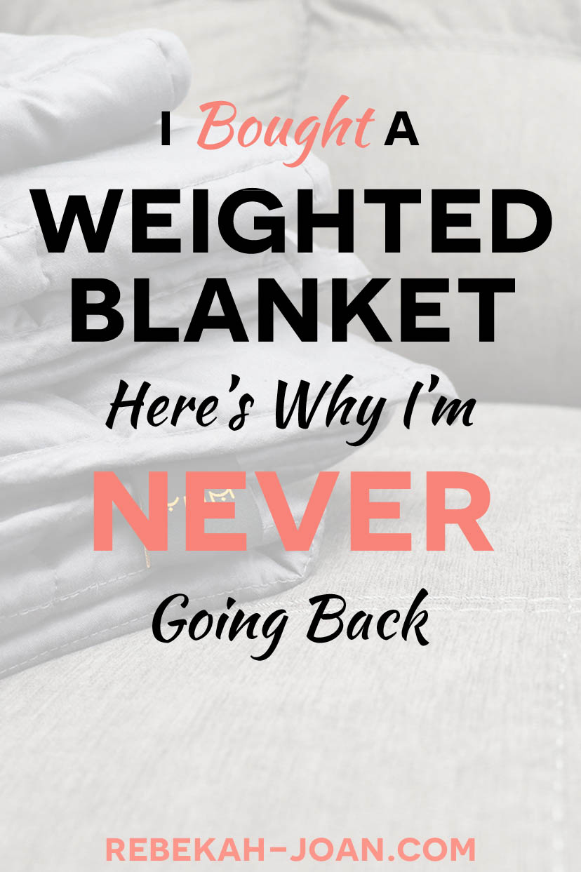 - If you have anxiety and it keeps you up at night, you're not alone. I couldn't get rid of my nighttime anxiety until I got a weighted blanket to help me fall asleep. This is what happened.