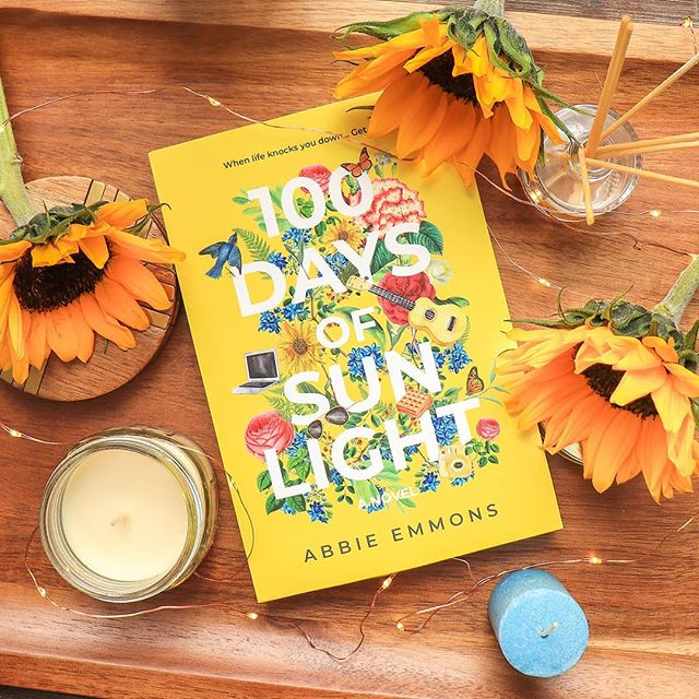 Guess what came in the mail today? 😍  #100daysofsunlight by one of my writer friends @abbieeofficial is OUT and AVAILABLE at all major book retailers. You have no idea how excited I am to sit down and read this lovely story. ☀️ I'll hopefully be posting a review on my blog when I finish it. Eeeep!