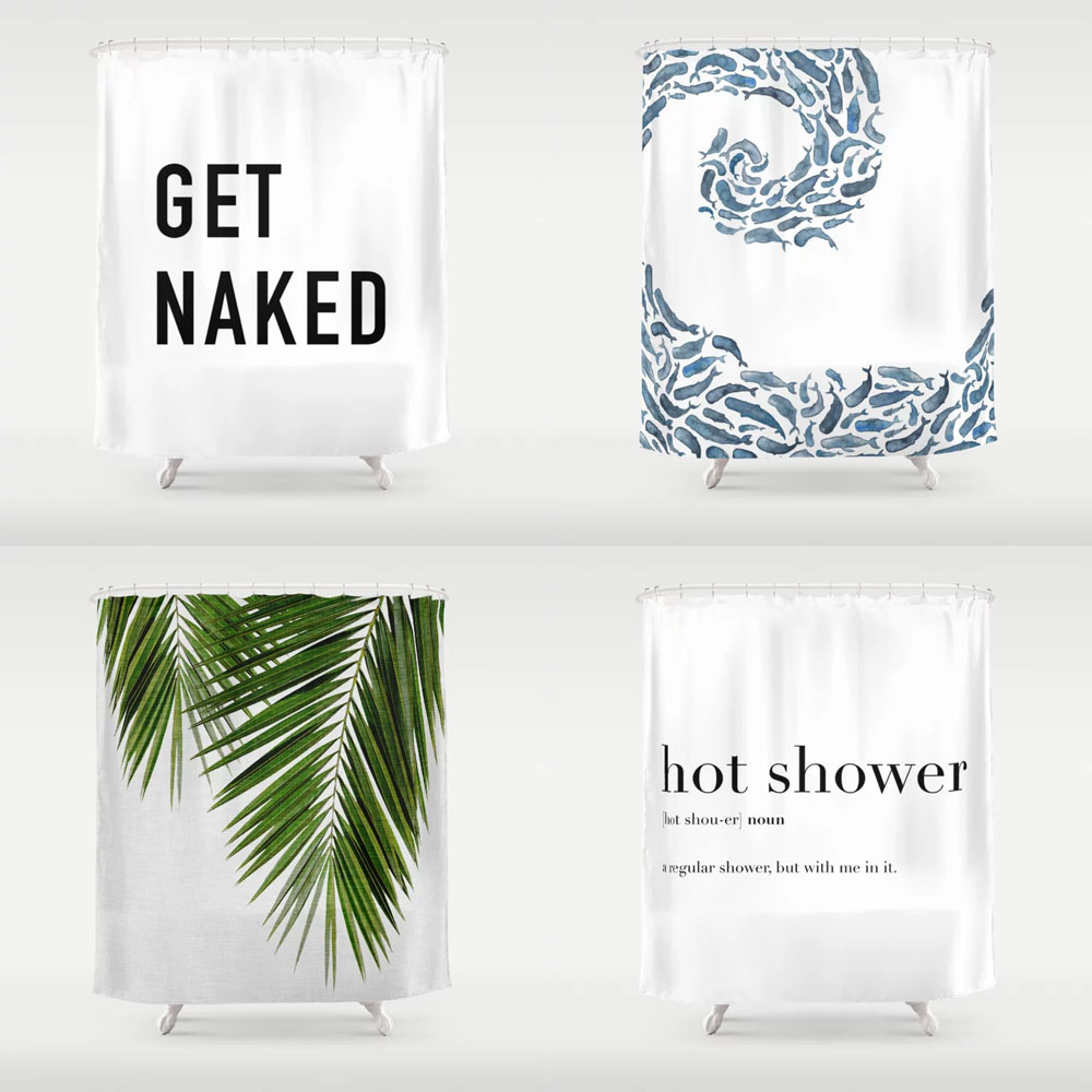 Society6 Shower Curtains for apartments and dorms