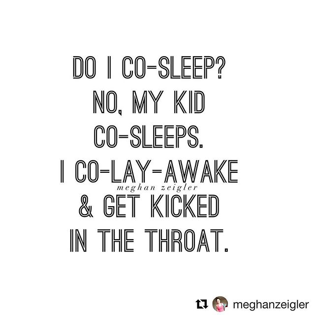 I saw this today and I LOLed... how true is this!?! 📷 @meghanzeigler • I know co-sleeping can be adorable, precious, and quite honestly, possibly help you catch a few 💤's, but in my experience, it gets OLD when baby/toddler sleeps but YOU don't, or you are terrified that they will get a blanket wrapped up around them, or you get kicked in the throat because babies are little ninjas. • I talk to many mamas that tell me they never intended to co-sleep and now just don't know how to make the transition... or maybe they did want to but didn't imagine it would turn out like this, and are not getting ANY sleep. • Yes, I can help. •  Yes, we can get your babe, toddler, or child sleeping independently. • All it takes is one simple call, and that will be the beginning of something that will be #lifechanging  DM me to book that call!  #sleephappybeehappy #sleepthroughthenight  #motherhoodquotes #thisismotherhood #sttn  #momlife #momsofinstagram #momgoals #newmom #baby  #joyfulmamas #momlife #capturingmotherhood #motherhood  #motherhoodunplugged #instamom  #momsofig  #babysleephelp #momadvice #motherhoodalive #motherhoodisdarling #motherhoodrocks #motherhoodthroughig #realmoms #momsquad #sleepdeprived #momtribe