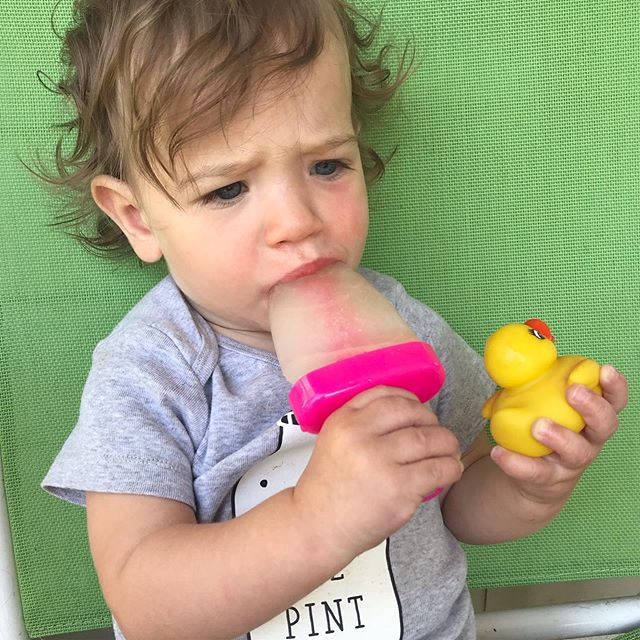 Don't let the grumpy face fool ya, this girl's #livingherbestlife with that popsicle and rubber ducky.  What are your summer plans? Travel, parks, or taking it easy in the backyard?  #sleephappybeehappy #sleepthroughthenight  #sttn #cherisheverymoment #summer #summertime #popsicle  #momlife #momsofinstagram #momgoals #newmom #baby  #joyfulmamas #momlife #capturingmotherhood #motherhood  #motherhoodunplugged #instamom  #momsofig  #babysleephelp #momadvice #motherhoodalive #motherhoodisdarling #motherhoodrocks #motherhoodthroughig #realmoms #momsquad #sleepdeprived #momtribe