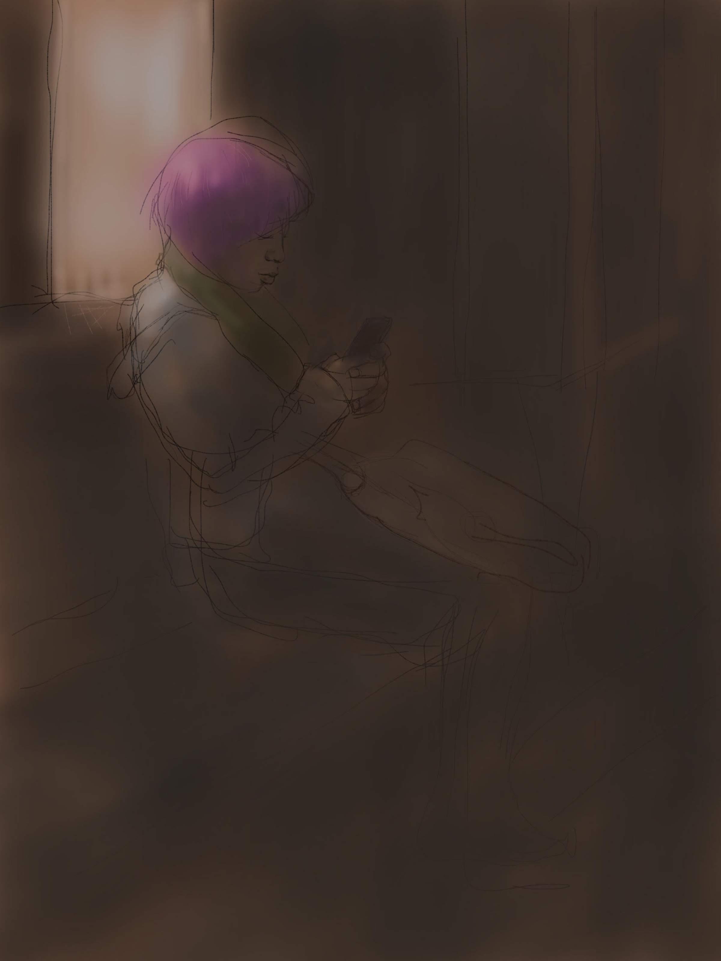 Purple hair on the 27. Procreate