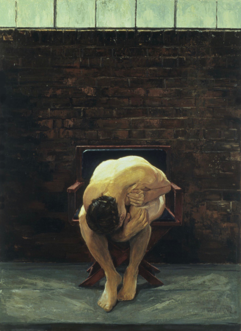 """Strength and Grief. Oil on linen 60x44"""""""