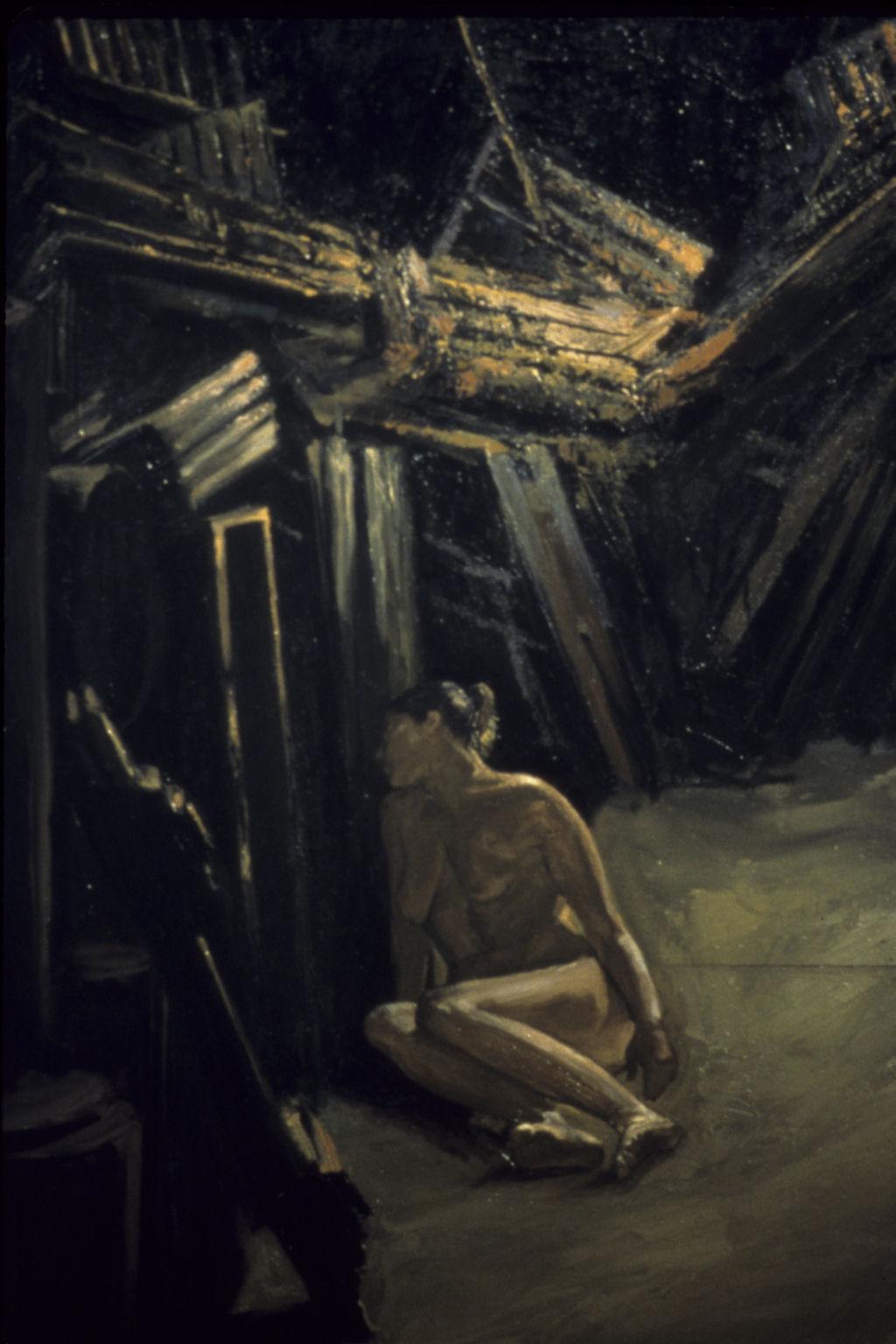 Detail of Dreaming of Elijah Oil on linen
