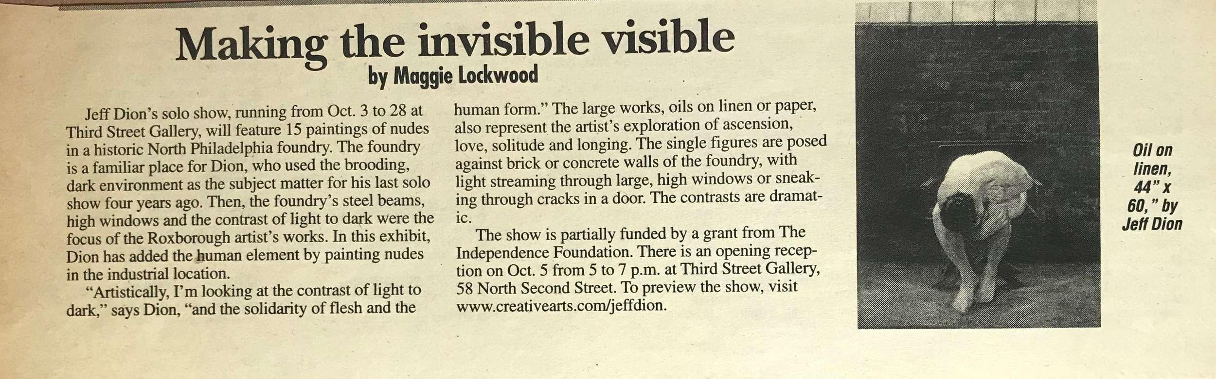Making the Invisible Visible Maggie Lockwood 2000