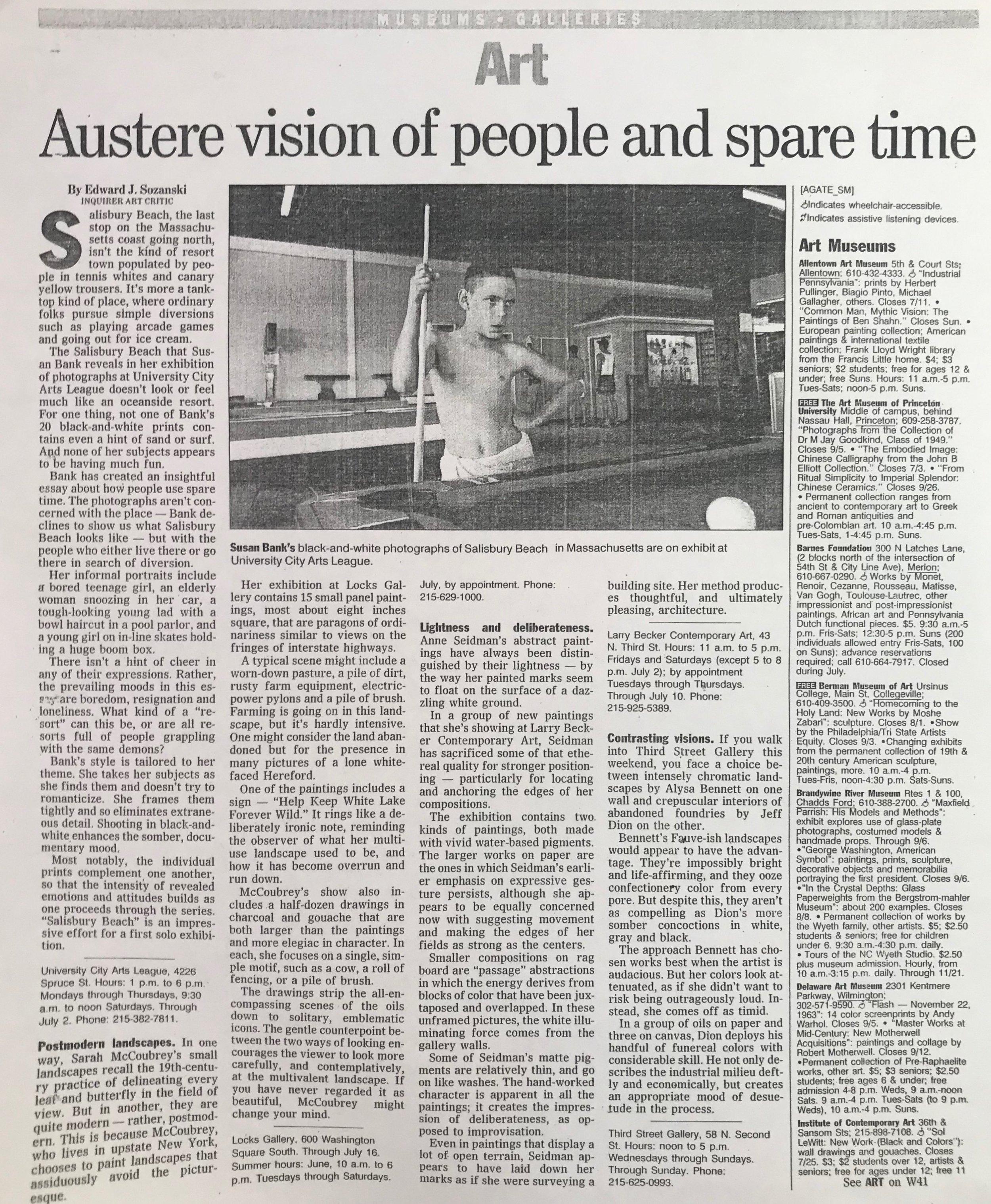 Contrasting Visions The Philadelphia Inquirer Edward Sozanski 1998