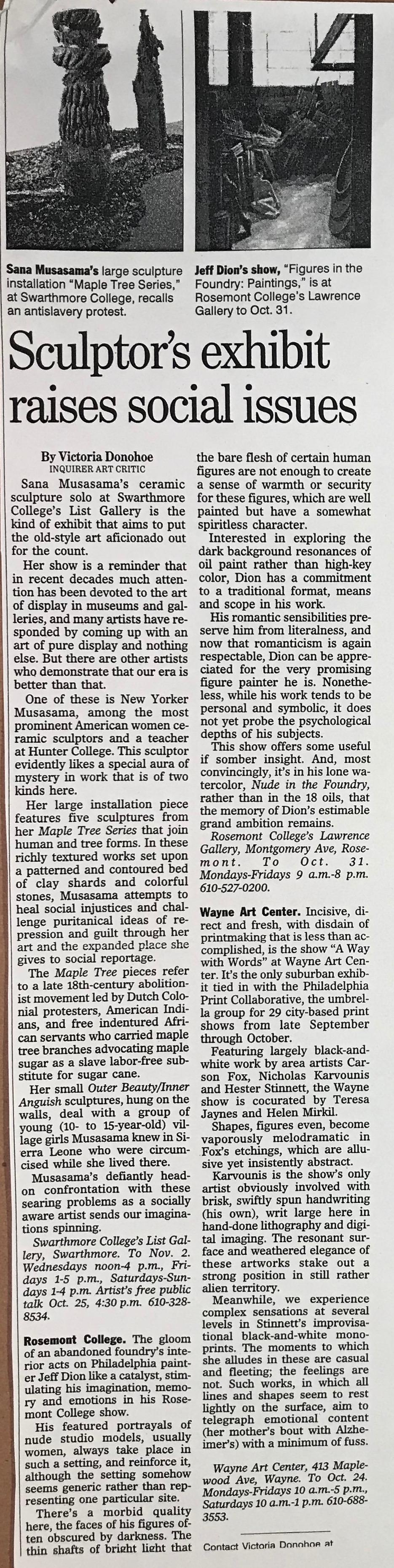 Rosemount College The Philadelphia Inquirer Victoria Donohoe 2002