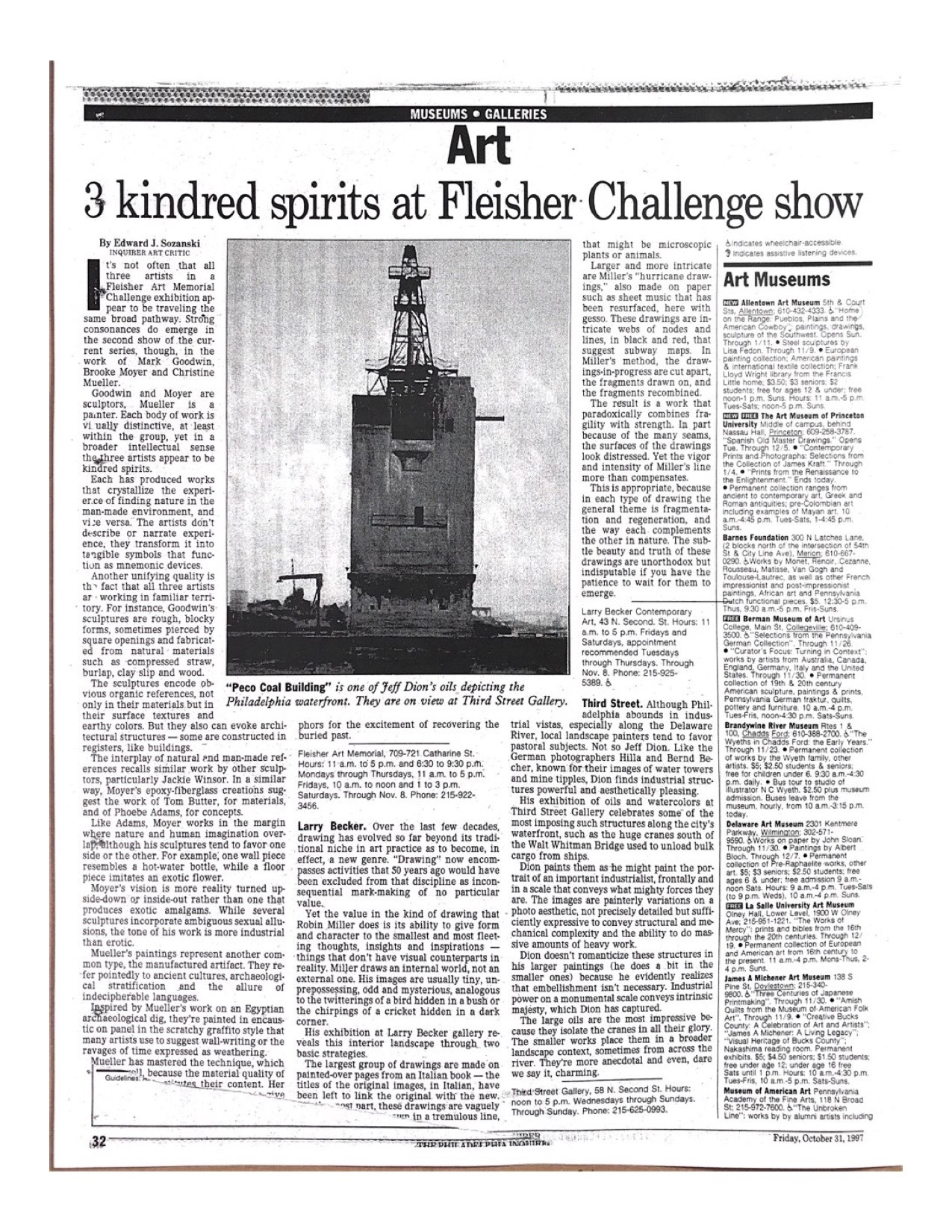 Jeff Dion - The Philadelphia Enquire Edward Sozanski 1997