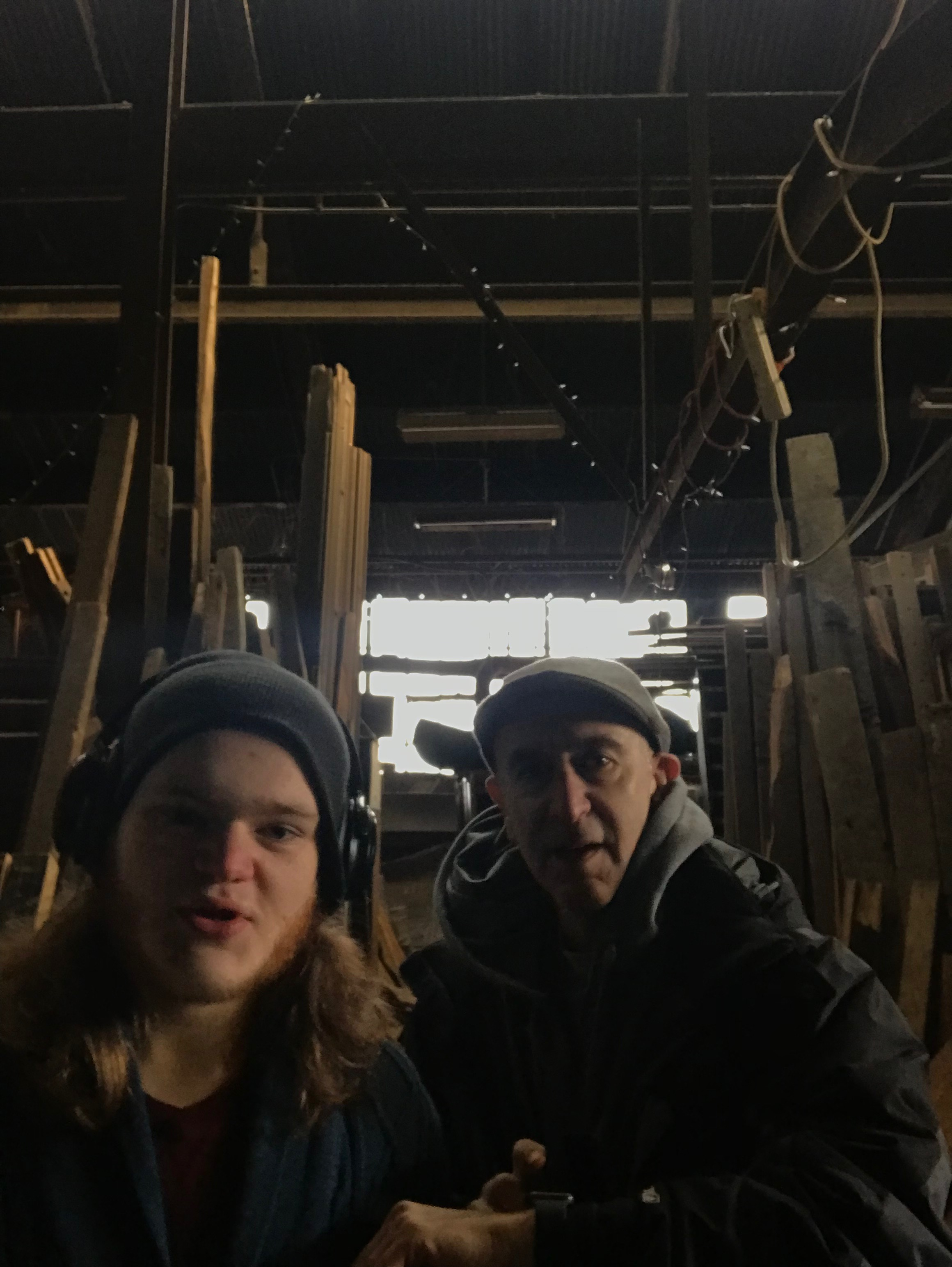 In the Foundry with my son Sebastien