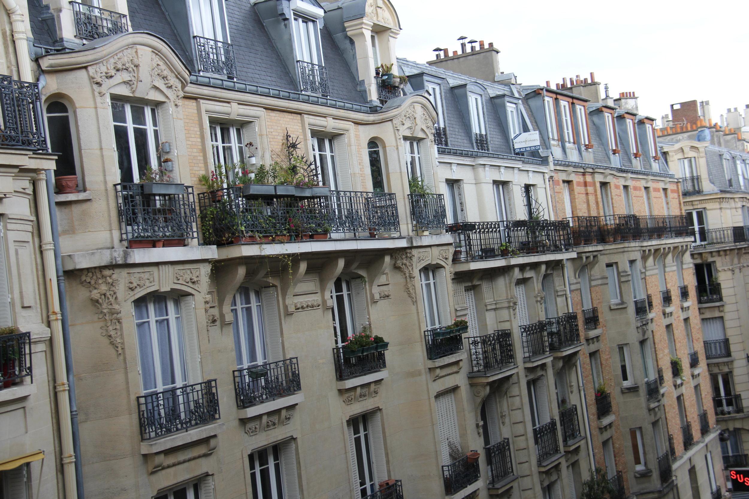 Paris, view from the kitchen, rue Bezout, 14e arrondissement