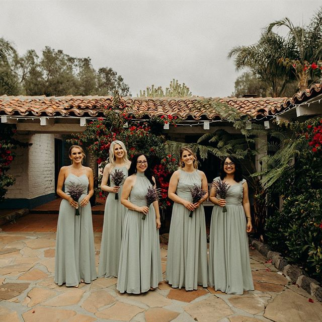 These bridesmaids are stunning in sage. And those lavender bouquets are the sweetest addition. - Photo: @joekathrina  Venue: @leocarrilloranch  Rentals: @sundrop_vintage Flowers: @beautifulsavageflowers - #BSF #beautifulsavage #beautifulsavageflowers #bsflower  #savageflowers #floristlifeunfiltered #floristlove