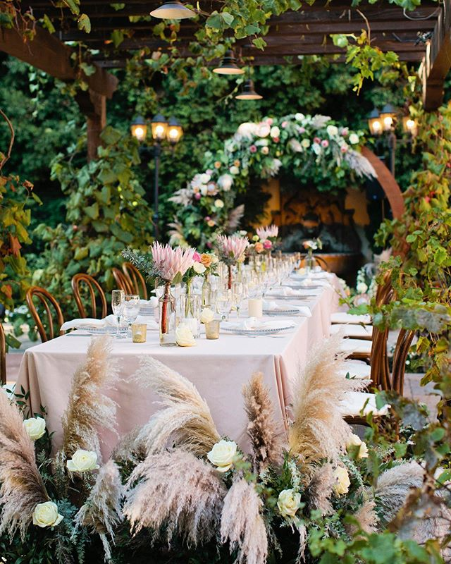 A wedding reception oasis 😍 - Planning + Design: @confettiskies Floral Design: @beautifulsavageflowers Photography: @alisonyinphoto DJ: @djjeffty Venue: @franciscangardens Catering + Bar: @24carrotscatering Officiant: #thomascleary Beauty: @meghanvaleriehair Transportation: @best_vip_chauffeured Lounge Furniture + Reception Signage: @sundrop_vintage Invitation: @mintedweddings Wedding Dress Boutique: @thewhitedresscouture Wedding Dress Designer: @angelriverabride Bridesmaid's Dresses: @misshayleypaige @mumuweddings Men's Attire: @nordstrom - #BSF #beautifulsavage #beautifulsavageflowers #bsflower  #savageflowers #floristlifeunfiltered #floristlove #thenewcooptroop