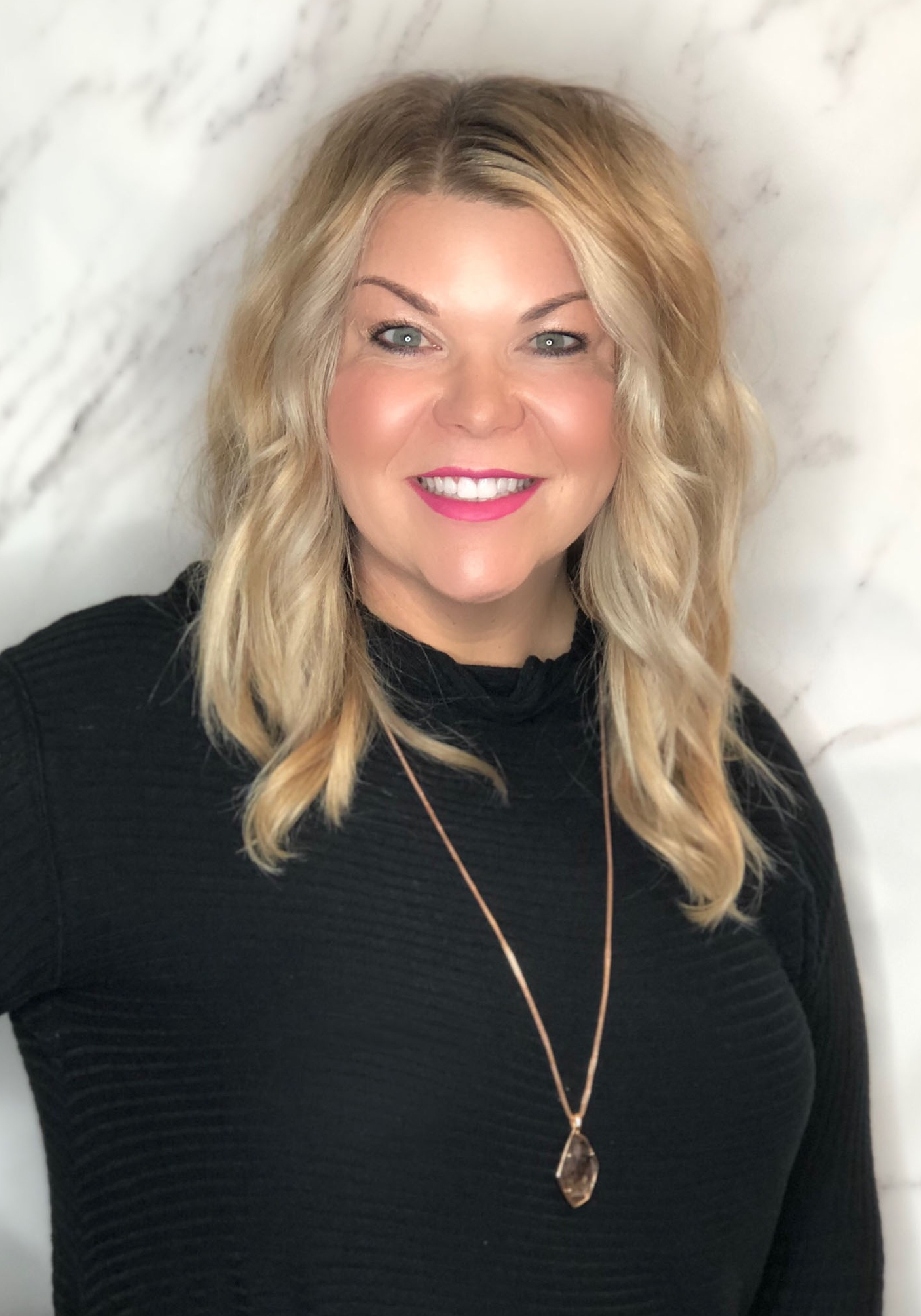Jesi loves to create masterpieces with hair. Painting hair and carving a beautiful fringe are her specialties. She's always here to listen to specific needs and educate you on how to look your best. Let her polish your look to perfection.