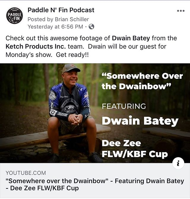 Our upcoming show next Monday, we have the man @dwainb8e joining us. He's part of the @ketchusa team and is killing it on the leaderboards. Stay tuned for this one. #kayak #kayakfishing #kayakangler #kayakangling #kayakfisherman #kayakbassfishing #KBF #kayakangling #fishing #angler #angling #fisherman #fishermen #Ketch #KetchCo @kayakbassfishing @kayakanglermag @kayakanglernation