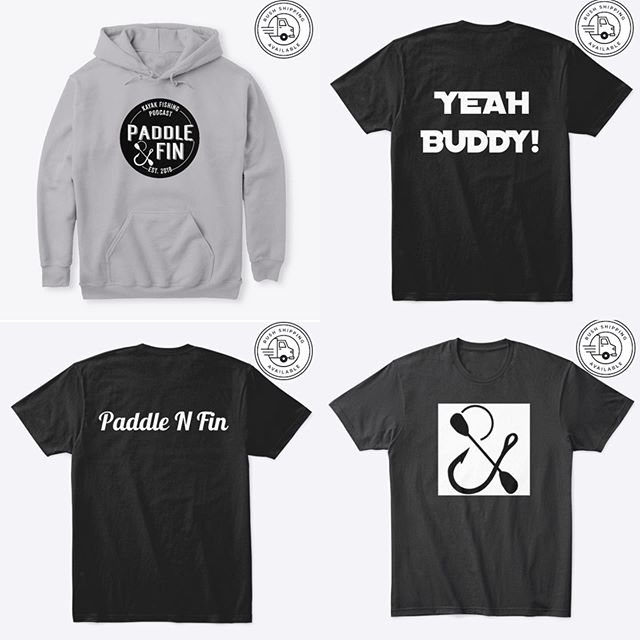 Get your @paddlenfin on with some new gear.  Currently all proceeds will go to @jaxtonorrfishing for his charity tournament. Help out a great cause and get some cool new threads at the same time.  https://www.paddlenfin.com/store  #charitytournament #kayakbassfishing #gearupheadout #paddlenfin