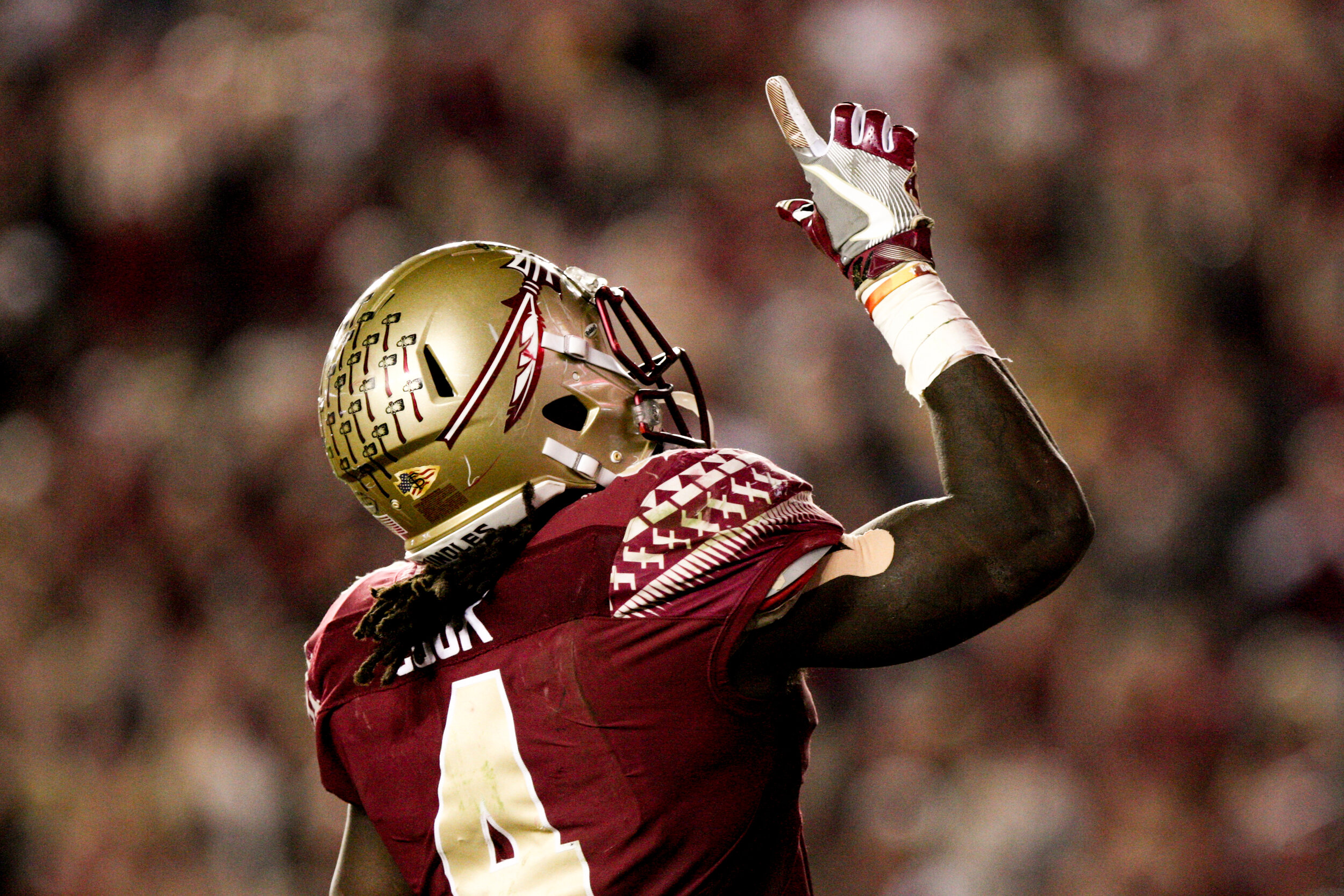 Dalvin Cook, of the Florida State Seminoles, became the all-time leading rusher in his three years on the team, surpassing the greats like Warwick Dunn and Greg Allen to a total of 4,464 yards rushing by the time he was drafted to the Minnesota Vikings.