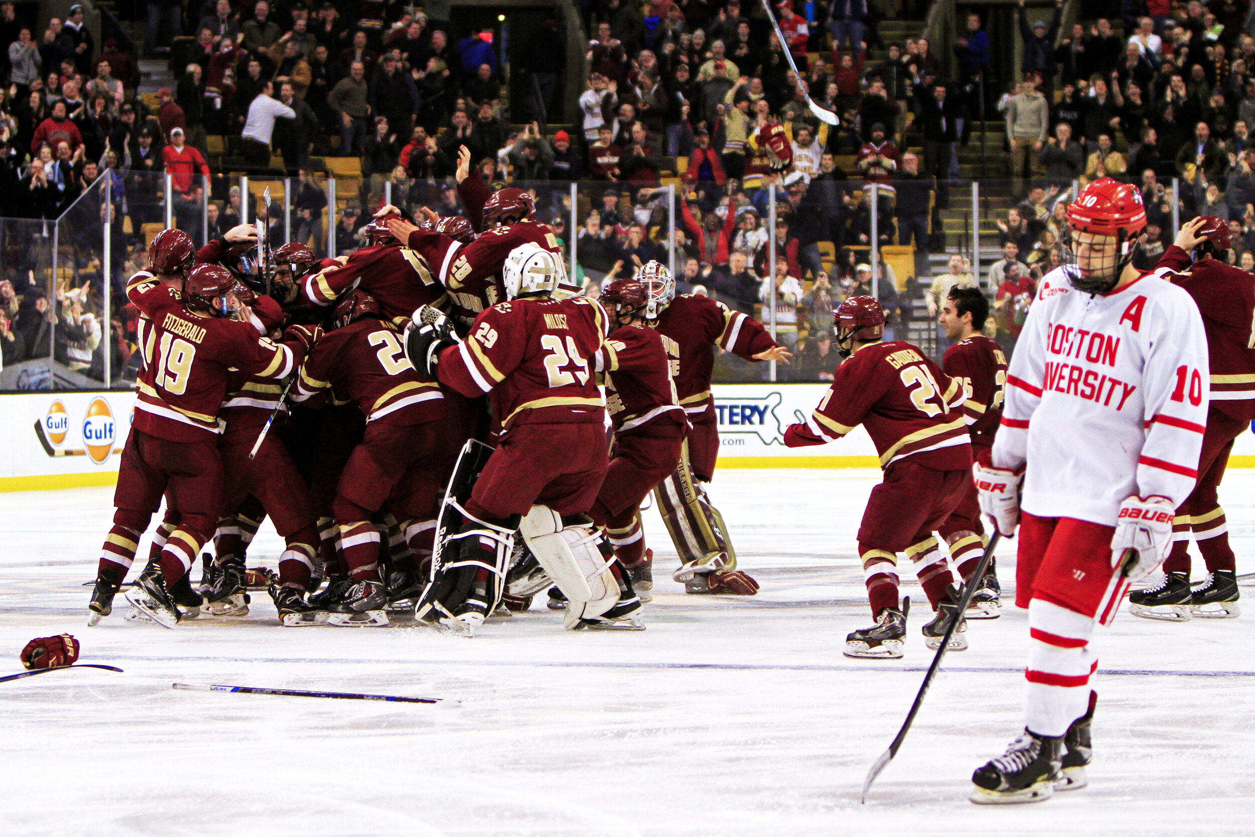 Boston College Men's Hockey took the 2016 Beanpot championship title after an overtime goal against the Boston University Terriers.