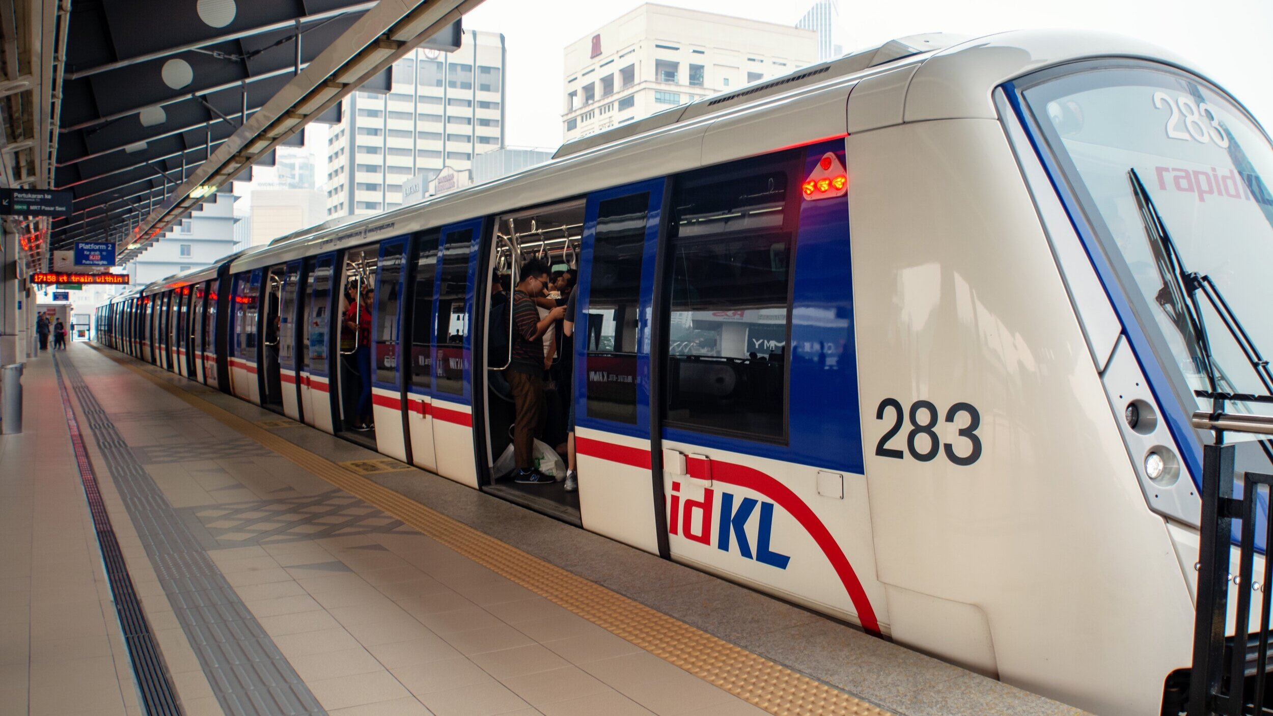 Not a normal day at work for a Rapid KL staff.