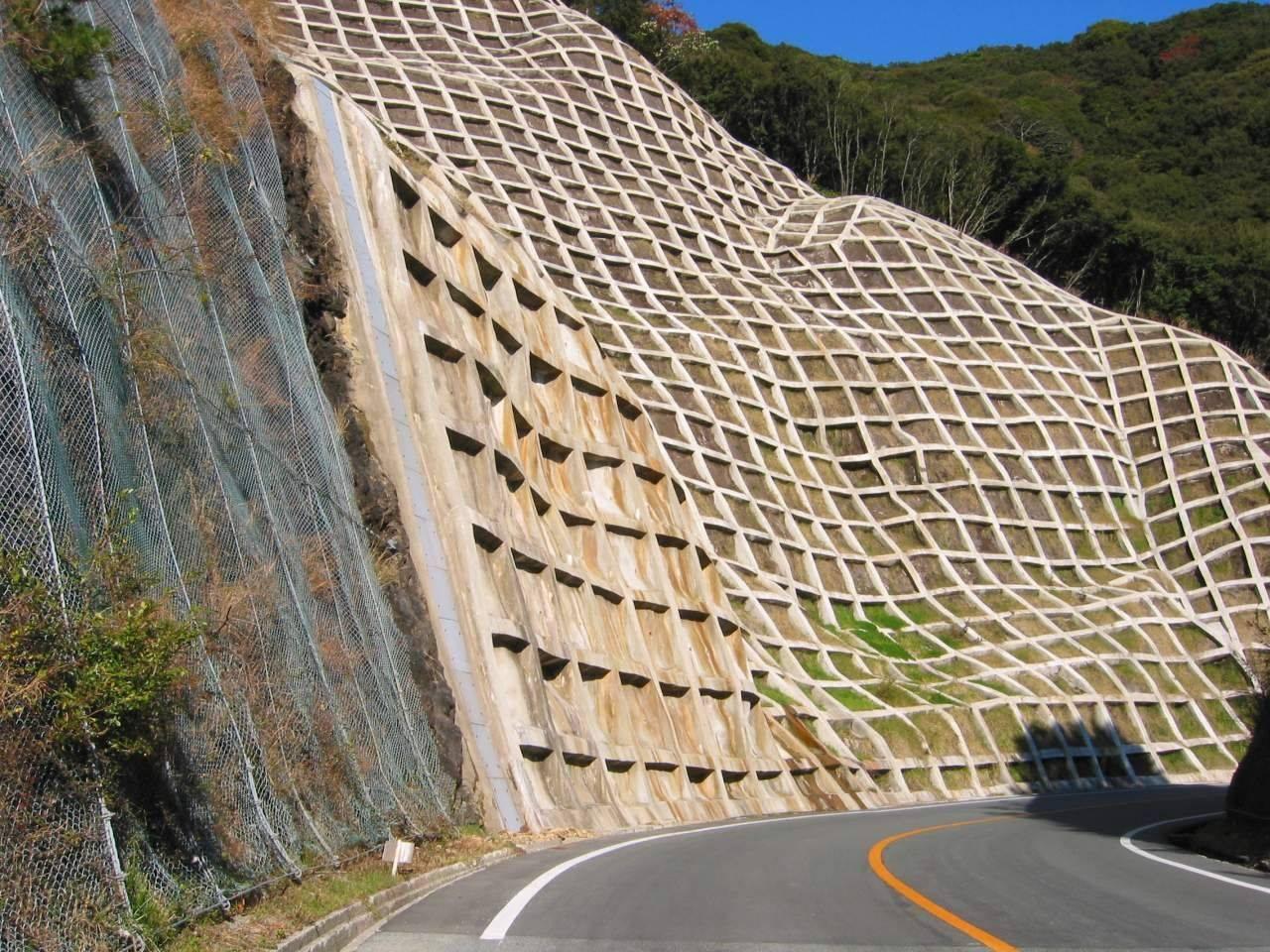 Figure 1: Concrete retaining walls in Japan