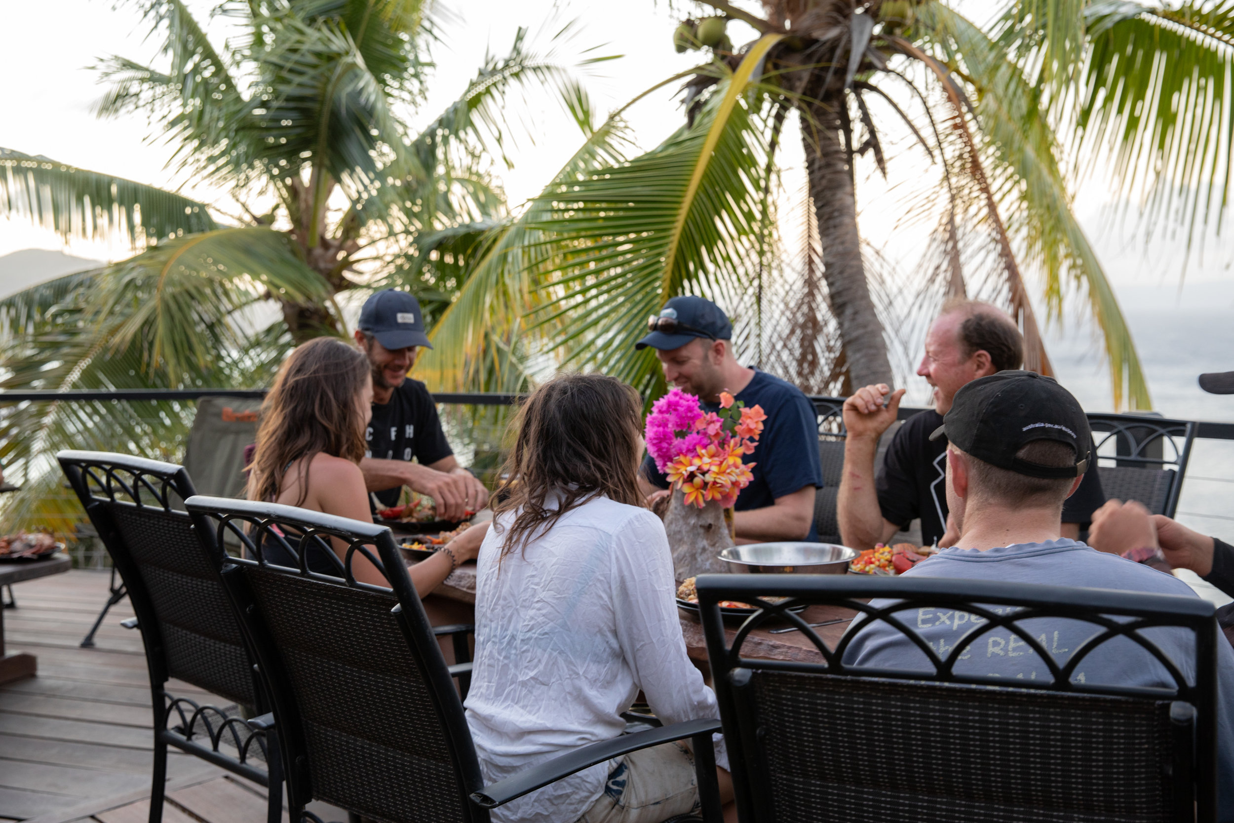 Share a laugh - While you eat, tell tales of the days toils overlooking the magnificent Coral Sea.