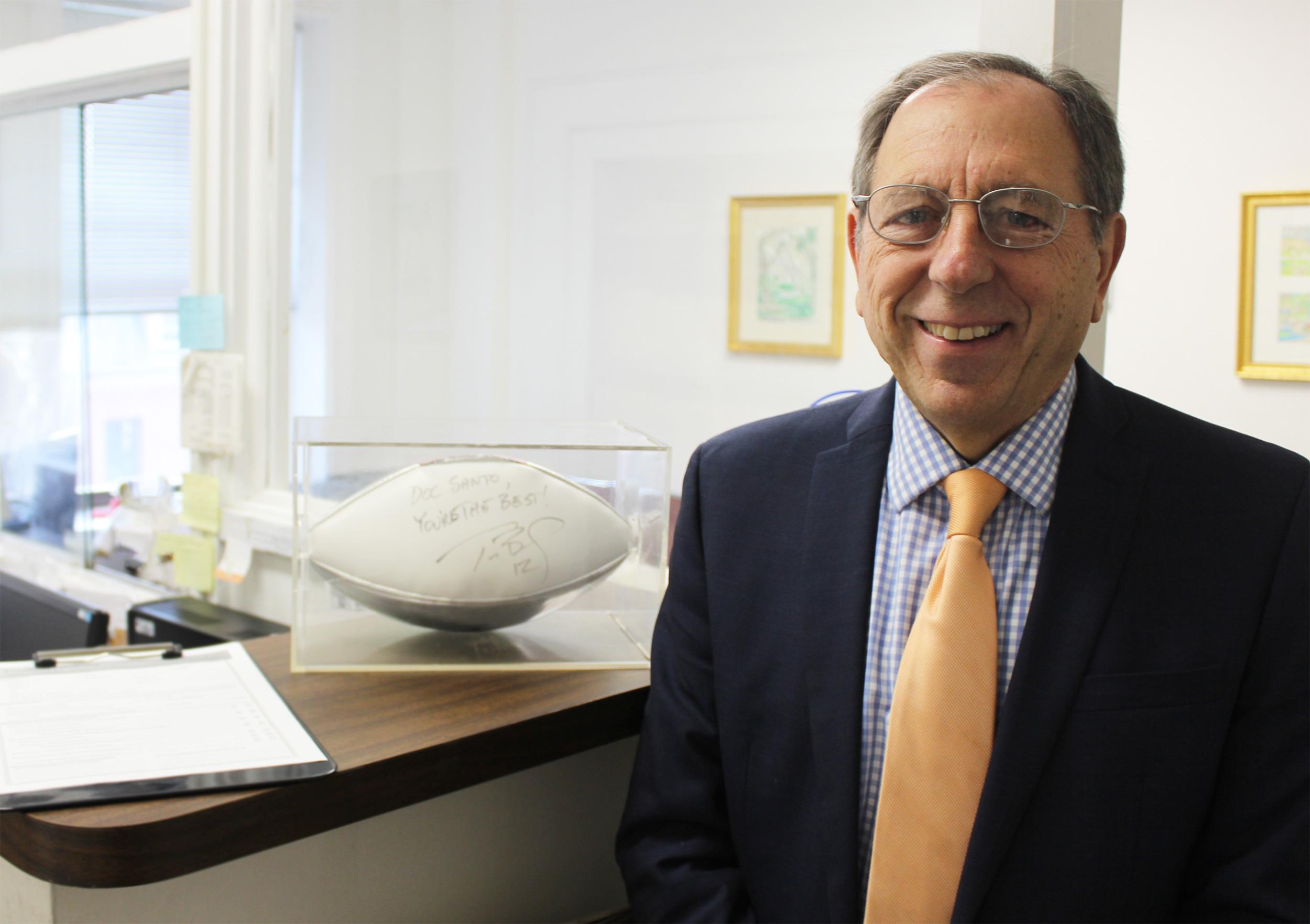 Dr. Frank J. Santopietro, D.P.M. at his Brookline, Massachusetts practice.